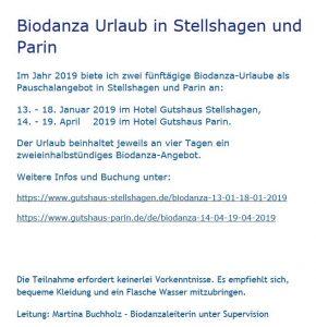 Biodanza Urlaub in Stellshagen mit Martina Buchholz @ Damshagen   Mecklenburg-Vorpommern   Deutschland